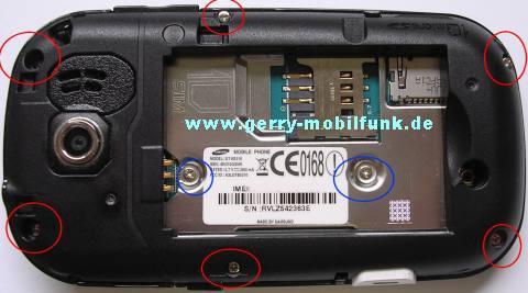 Schrauben Samsung GT-B5310