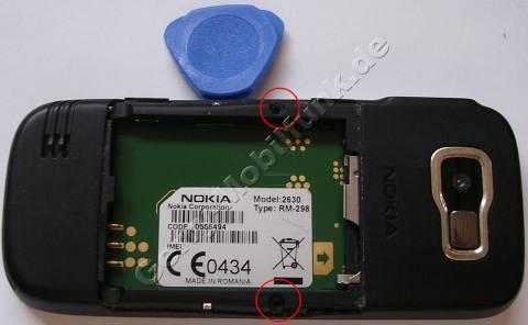 Schrauben, Akkufach Nokia 2630