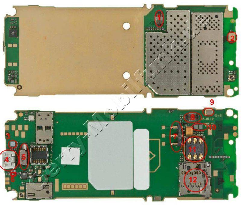 Platinenlayout Nokia C5
