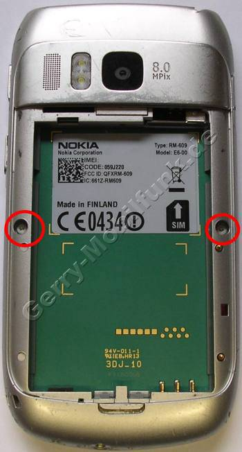 Unterschale Nokia E6-00