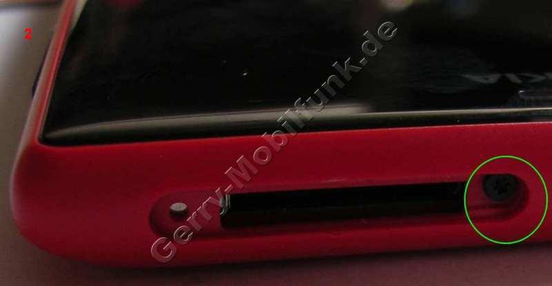 Gehäse Schraube Nokia Lumia 720