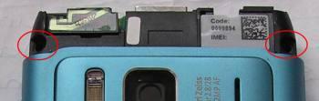 Schrauben Displayscheibe Nokia N8