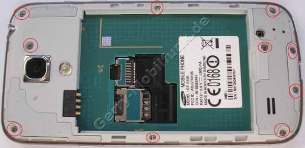 Geh�userahmen, Chromrahmen Samsung GT-i9195 Galaxy S4 Mini