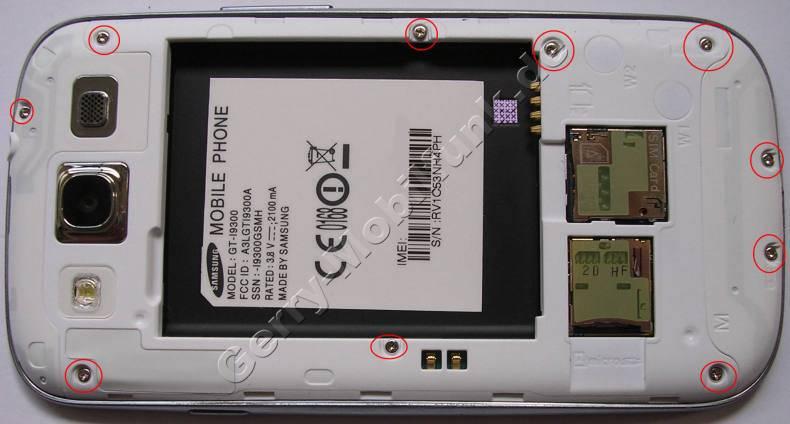 Gehäserahmen Samsung GT-i9300 Galaxy S3