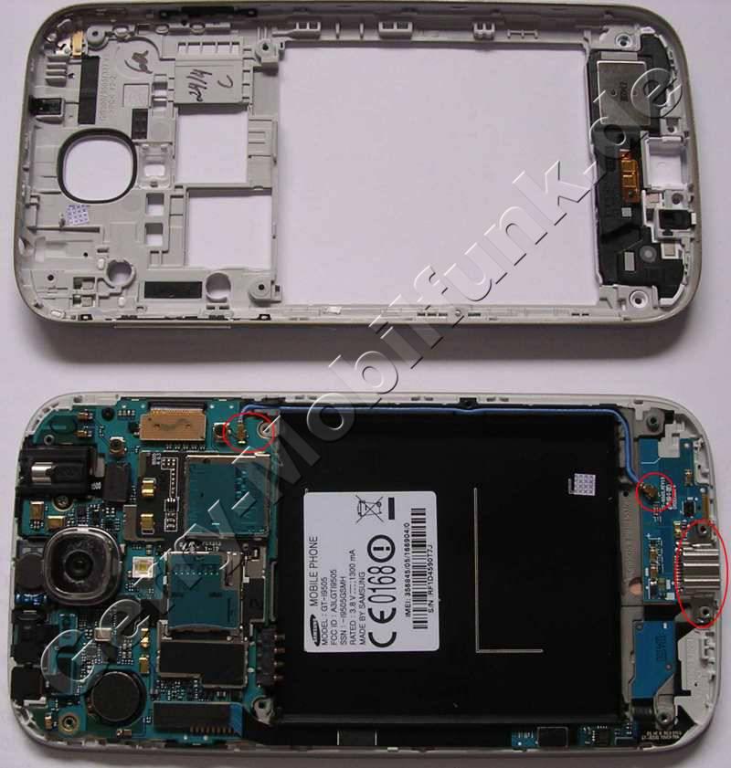 Unterschale Samsung GT-i9500 Galaxy S4