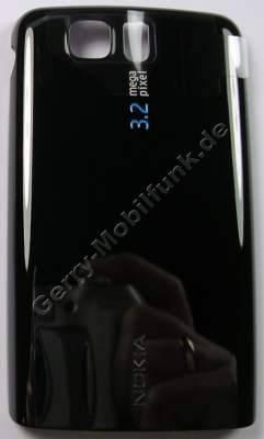 Akkufachdeckel schwarz Nokia 6600 slide original Batteriefachdeckel black