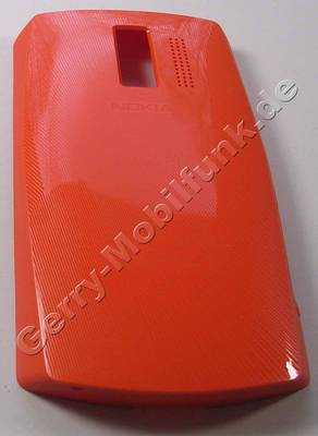 Akkufachdeckel orange Nokia Asha 205 DualSim original Batteriefachdeckel orange