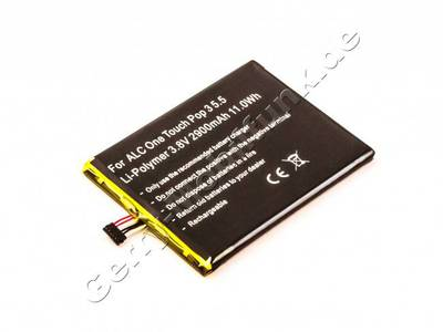 Akku Alcatel One Touch Pop 3 5.5, Li-Polymer, 3,8V, 2900mAh, 11,0Wh