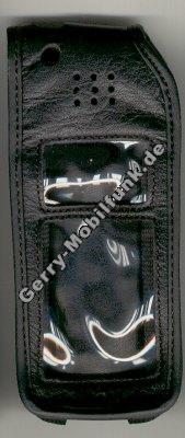 Ledertasche schwarz mit Gürtelclip AEG 9050