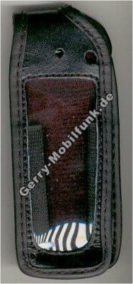 Ledertasche schwarz mit Gürtelclip AEG 9080