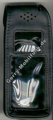 Ledertasche schwarz mit Gürtelclip Alcatel o.t.Pro