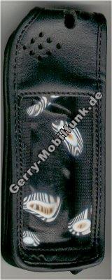 Ledertasche schwarz mit Gürtelclip Ericsson 628
