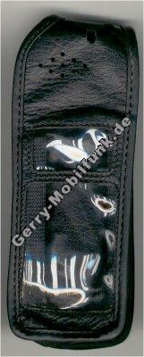 Ledertasche schwarz mit Gürtelclip Ericsson 688