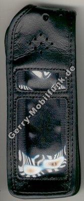 Ledertasche schwarz mit Gürtelclip Ericsson 337