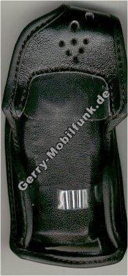 Ledertasche schwarz mit Gürtelclip Ericsson T28s T29 T39