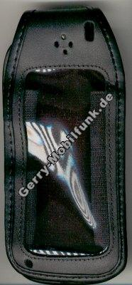 Ledertasche schwarz mit Gürtelclip Alcatel Max db