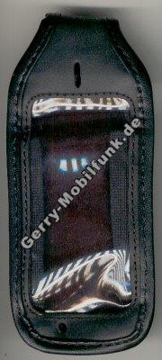 Ledertasche schwarz mit Gürtelclip Alcatel 302 ONE TOUCH