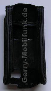 Ledertasche BenQ-Siemens EL71 schwarz mit Gürtelclip