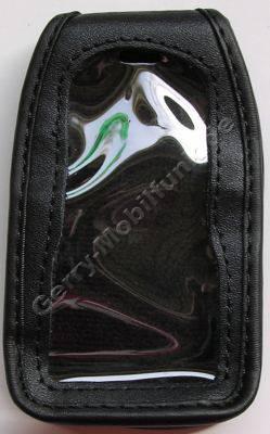 Ledertasche BenQ-Siemens EF51 schwarz mit Gürtelclip