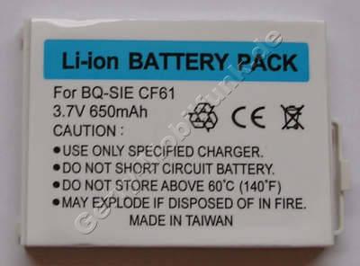 Akku BenQ-Siemens CF61 (entspricht EBA-163) LiIon 650mAh 3,7V 4,6mm ca. 16g