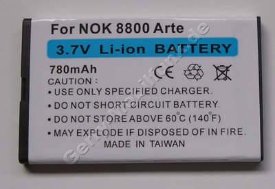 Akku Nokia Asha 309 Li-Ion 780mAh 4,8mm Akku vom Markenhersteller mit 12 Monaten Garantie, nicht original Nokia (entspricht BL-4U)