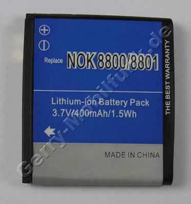 Akku Nokia NOKIA 8800 (entspricht BL-5X) 400mAh 1,5Wh Akku vom Markenhersteller mit 12 Monaten Garantie, nicht original Nokia