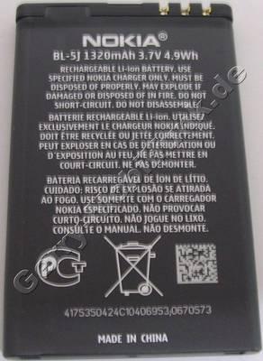 Akku BL-5J original Nokia Lumia 520 LiIon 1320mAh 3,7V 4,9Wh original Ersatzakku