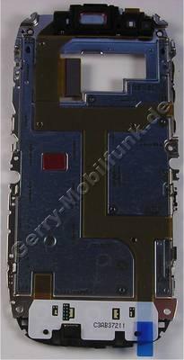 Displayträger mit Tastaturmodul Nokia C7-00 original Chasis komplett bestückt mit Flexfolie, Flexkabel, Tastaturmodul der Menütasten, Seitenschalter für Lautstärke, Kameraaschalter, Verriegelungs Schiebeschalter, Frontkamera, Lautsprecher, Mikrofon