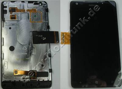 Ersatzdisplay - Display - Displaymodul und Touchpanel Nokia Lumia-900 original LCD Display mit Touchscreen, Displayscheibe
