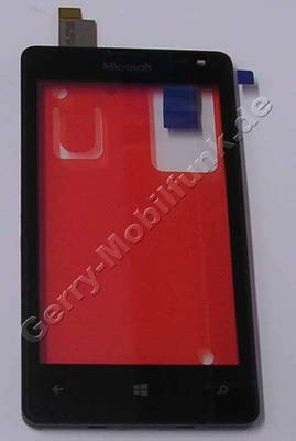 Touchpanel, Oberschale Microsoft Lumia 532 original Frontcover mit Displayscheibe, Touchscreen, CARE A COVER AND TOUCH ASSEMBLY
