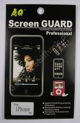 Displayschutzfolie Apple iPhone 3G selbstklebende Schutzfolie für LCD-Display, Displayfolie incl. Reinigungstuch