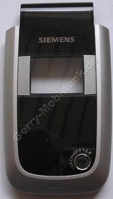 Displayscheibe kleines Display Siemens CF75 original incl. Oberschale pearl black/schwarz und Kamerafenster