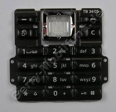 Tastenmatte schwarz BenQ-Siemens SXG75 Telefon Tastatur