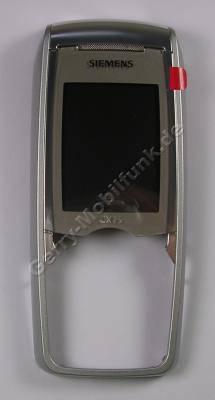 Oberschale Siemens CX75 silber Original Cover mit Displayscheibe