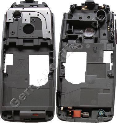 Unterschale Siemens CX75 Original Gehäuseträger silber incl. Mikrofon, Antenne, Vibration