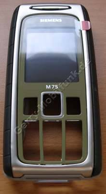 Oberschale Siemens M75 safari gr�n Original Cover incl. Displayscheibe, Geh�usedichtung, Seitentasten