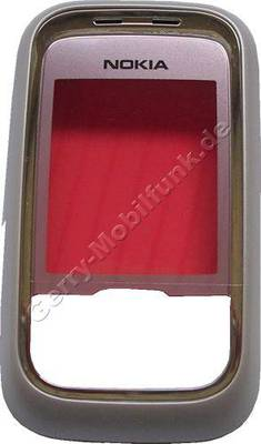 Oberschale Schieber original Nokia 6111 pink, A-Cover mit Displayscheibe