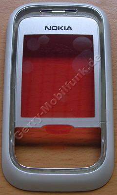 Oberschale Schieber original Nokia 6111 weiss, A-Cover mit Displayscheibe