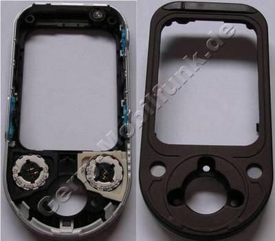 Beide Lautsprecher Musikausgabe original Nokia 7370 dunkel C-Cover incl. Oberschale, Fototaste, Ein/Aus Taste, Lautstärketaste, Mikrofon