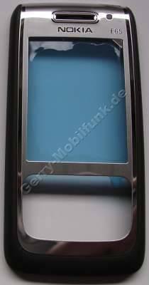 Oberschale mocca Nokia E65 original A-Cover mit Displayscheibe