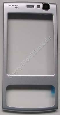 Oberschale silber Nokia N95 original A-Cover silver incl. Kamerascheibe und Lautsprecher