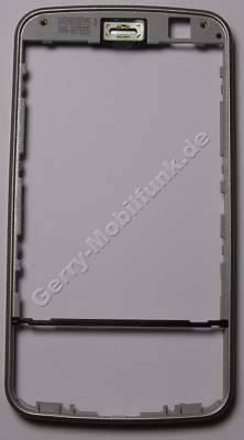 Oberschale Rahmen Titanium Nokia N96 original A-Cover incl. Lautsprecher ( ohne Displayscheibe )
