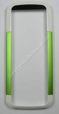 Oberschale weiß mit grün Nokia 5000 original A-Cover white green