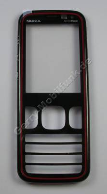 Oberschale black/red Original Nokia 5630 XpressMusic schwarz/rot A-Cover  mit Displayscheibe