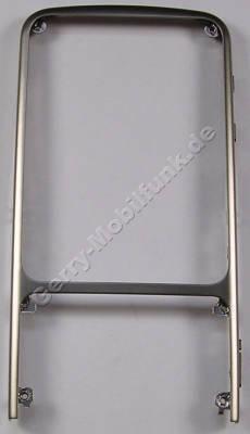 Oberschale gold Nokia C3-01 ( Touch and Type ) original A-Cover skhaki gold Gehäuserahmen vorne, Metallrahmen mit Lautstärketaste, Kamerataste, Taste für Tastensperre