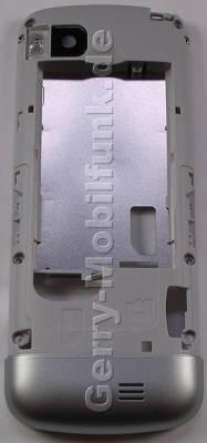 Unterschale silber Nokia C3-01 ( Touch and Type ) original C-Cover silver Gehäuseträger mit Kamerascheibe, Ladebuchse, Headset Konnektor, Blitzlicht LED