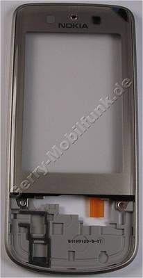Oberschale silber Nokia 6260 Slide original A-Cover mit Displayscheibe burning silver