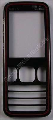 Oberschale schwarz rot Nokia 5630 Xpress Music original A-Cover black red mit Displayscheibe