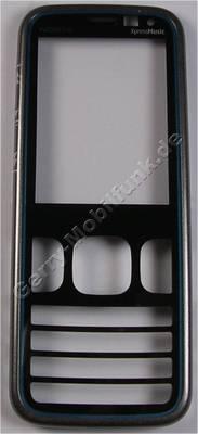 Oberschale grau blau Nokia 5630 Xpress Music original A-Cover grey blue mit Displayscheibe