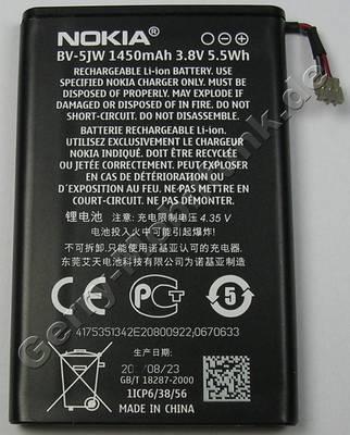 Akku BV-5JW Nokia Lumia 800 original Ersatzakku 1450 mAh, 5,5Wh